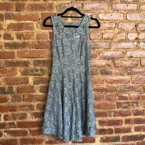 Gray Floral Party Dress